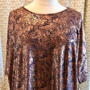 Lularoe Elegant Irma Top Copper& Navy